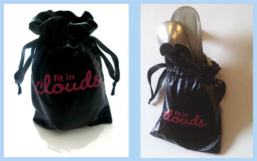 fit in clouds pouch for your high heels
